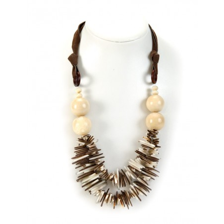 Tagua nut white balls necklace