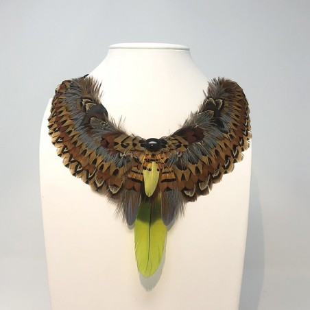 """Feather necklace """"Cozumel"""""""