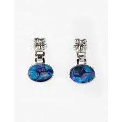 Maya ocean silver earrings